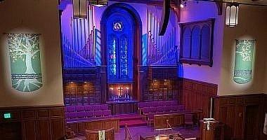 Sanctuary lit up