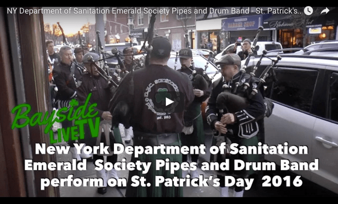 NY Department of Sanitation Emerald Society Pipes and Drum Band – St. Patrick's Day