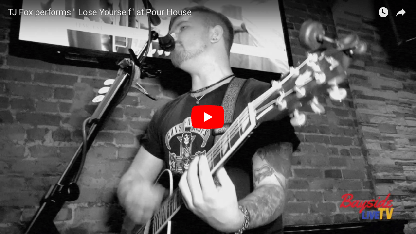 "TJ Fox performs ""Lose Yourself"" at Pour House"