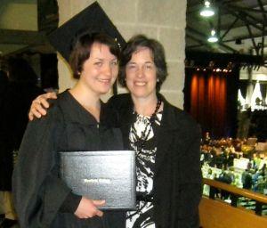 Photo at Bowdoin graduation