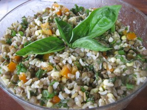 Photo of Rice, Lentil, and Corn Salad