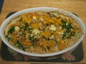 photo of Butternut Squash and Pecan Gratin with Goat Cheese
