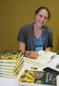 photo of Jessica langer signing books
