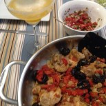 Chicken with Prunes and Sweet Red Peppers from The Art of Mexican Cooking