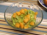 Cantaloupe instead of watermelon on the Watermelon-Ginger Guacamole