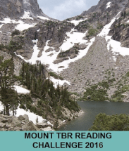 badge that says Mount TBR Reading Challenge 2016 with picture of a mountain