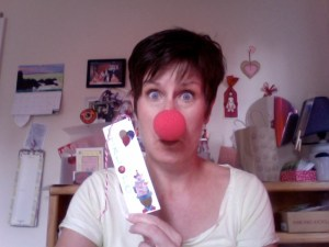 photo of Care with big red clown nose on