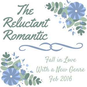 Badge text reads Fall in Love With a New Genre February 2016