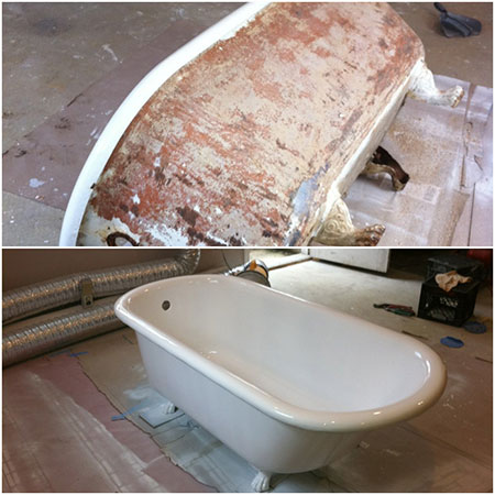 refinishing services in Boston, MA includes bathtubs