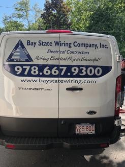 Bay State Wiring work truck.
