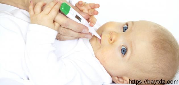 أسباب ارتفاع درجة حرارة الجسم عندالرضع