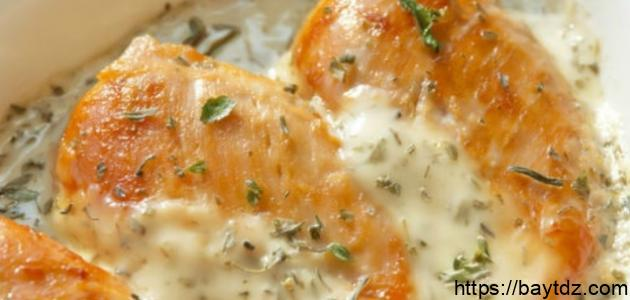 طريقة طاجن الدجاج بالجبن