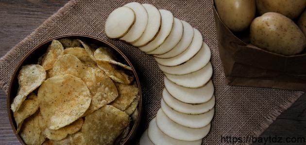 كيف تصنع رقائق البطاطس