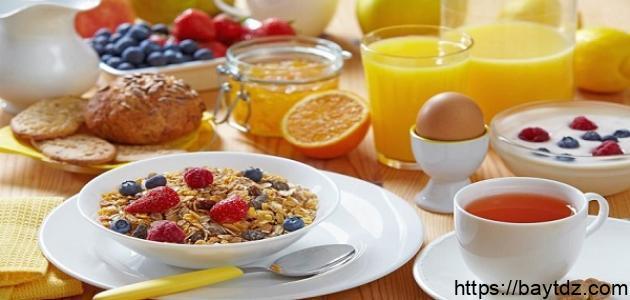 ما هو أفضل فطور صحي