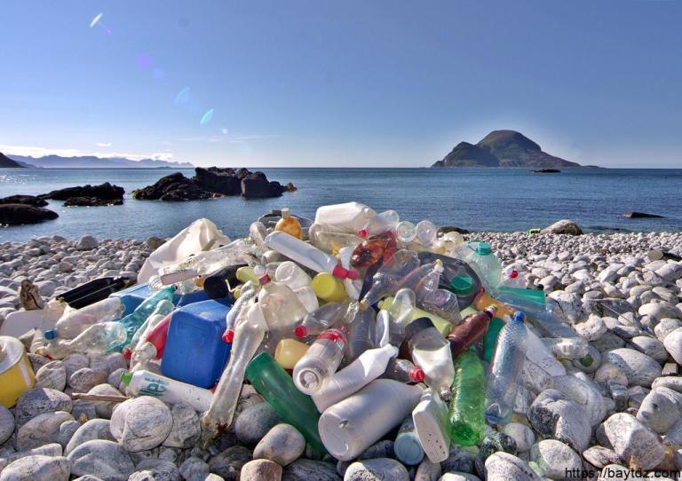 المخلفات البلاستيكية خطر يهدد البيئة البحرية