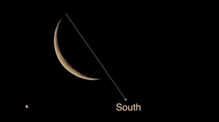 طريقة تحديد الاتجاهات عن طريق القمر