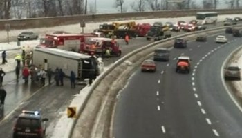 23 injured when a Megabus and truck collide on 401 – The South