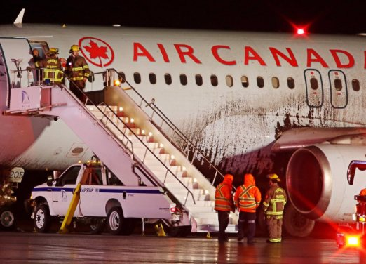 Halifax-Toronto flight blows tire and slides off runway