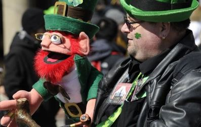 Leprechaun (left) and keeper