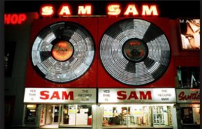 Sam's sign back to Yonge St.