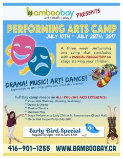 Performing Arts Camp this summer