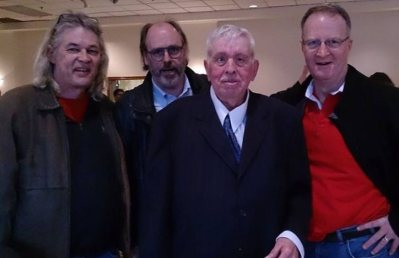 George with friends Steve Cook, Jeff Butler and Kevin Mark