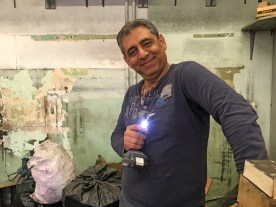 New owner, Ramin, renovating his space