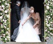 Duchess straightens sister's dress