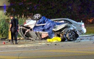 Car crosses into oncoming lane, kills three