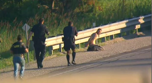 Wild chase from Toronto to Orillia ends with gunman cuffed