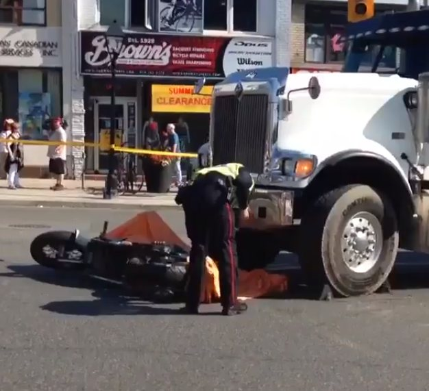 Freakish accident at Bloor and Jane killed motorcyclist