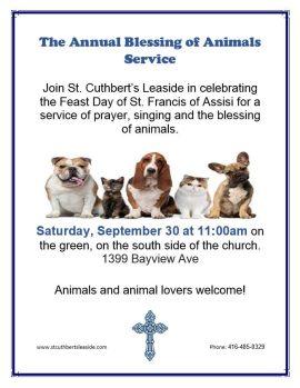 St. Cuthbert's Bless the Animals