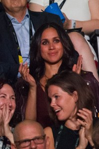 Meghan Markle in stands