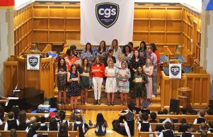 CGS Staff sing their year-end song