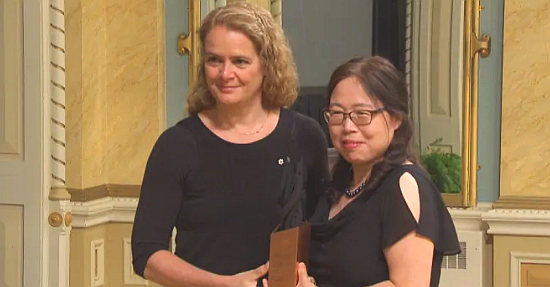 Governor General Julie Payette and Dr. Xiangguo Qiu