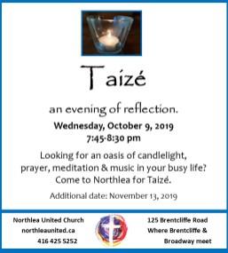 Taize October & November 2019