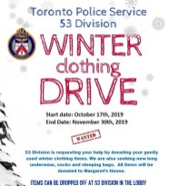 Oct 17 - Nov 30, 2019 - Winter Clothing Drive