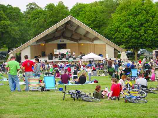 "This photo was published in the September 2008 Compass. It was taken in August of that year and we reported that ""hundreds"" of people attended the Chill on the Hill concert. Attendance has grown, and this year averages 2,000. PHOTO MICHAEL TIMM"