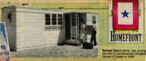A newspaper clipping shows furniture being moved into the Arthur Cole Wingfoot home in Cudahy, Wis. COURTESY GLADYS VAUGHT