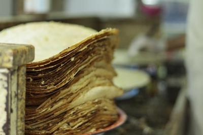 A stack of the thin khbz ragaag will entice anyone for the perfect mid afternoon snack.
