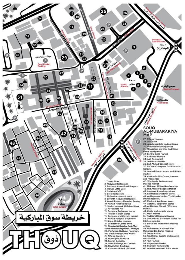 Souq Al-Mubarakiya Map