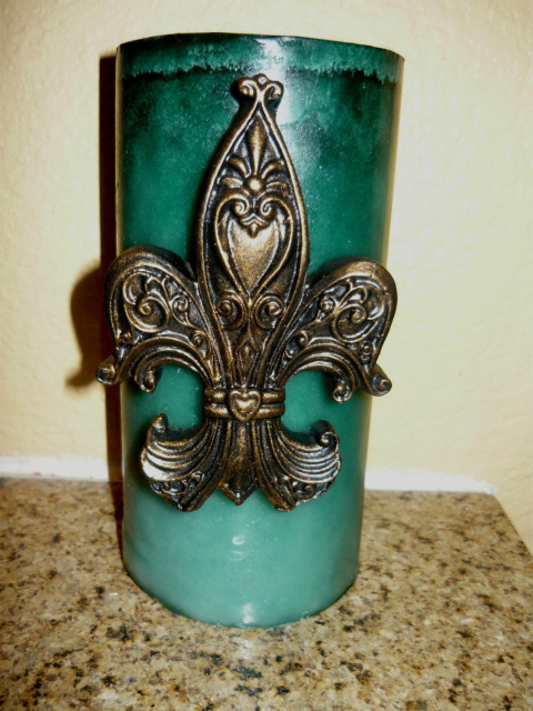 SET of 2 Fleur de Lis Candle Accent Pins Hand Made Old