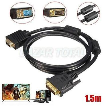 CABLE DVI-I 24+5 MACHO A VGA 15 PIN MACHO DE 1,5 m. PARA MONITOR PROYECTOR ETC 1