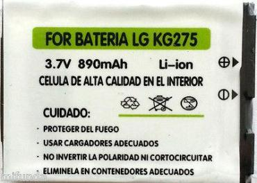 BATERIA COMPATIBLE PARA LG KG275 890 mAH, 3.7V LITIO ION BATTERY