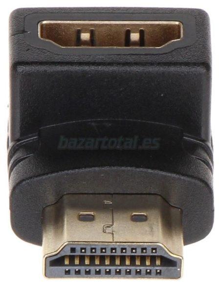 ADAPTADOR CONECTOR ACOPLADOR HDMI ACODADO 90º, A/H-A/M 1