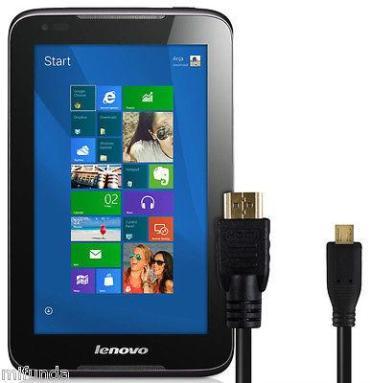 PARA LENOVO IDEATAB CABLE MICRO HDMI a HDMI MACHO HDMI MICRO MALE TO HDMI MALE