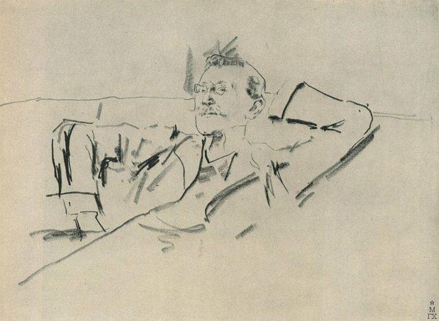Sketch portrait of Léon Bakst by Filipp Malyavin 1869 1940 e1545496402142 - Леон Бакст