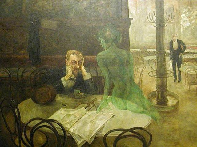 Viktor Oliva. Pjushhij absent. 1901. e1553095523638 - Задушить попугая, или любите ли  вы абсент?