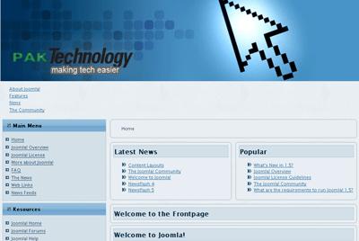 Joomla Template Pakistan Technology