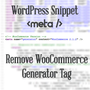 WooCommerce Generator Tag